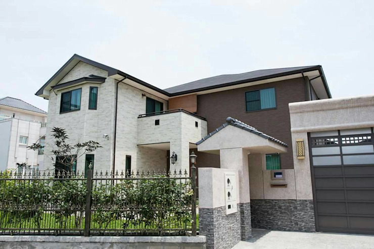新日鐵耐震節能健康住宅綠建築 現代房屋設計點子、靈感 & 圖片 根據 日本新日鐵台灣公司 現代風 鐵/鋼