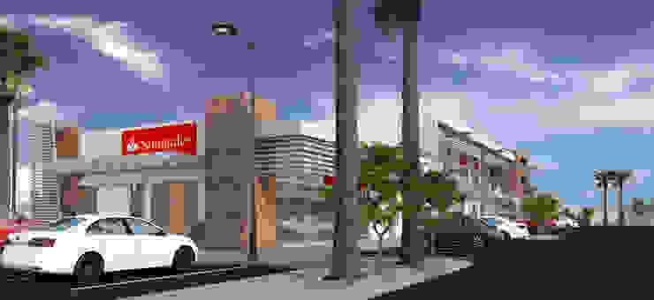 PLAZA BPG Centros comerciales de estilo minimalista de Acrópolis Arquitectura Minimalista