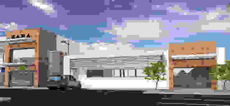 PLAZA BPG Espacios comerciales de estilo minimalista de Acrópolis Arquitectura Minimalista