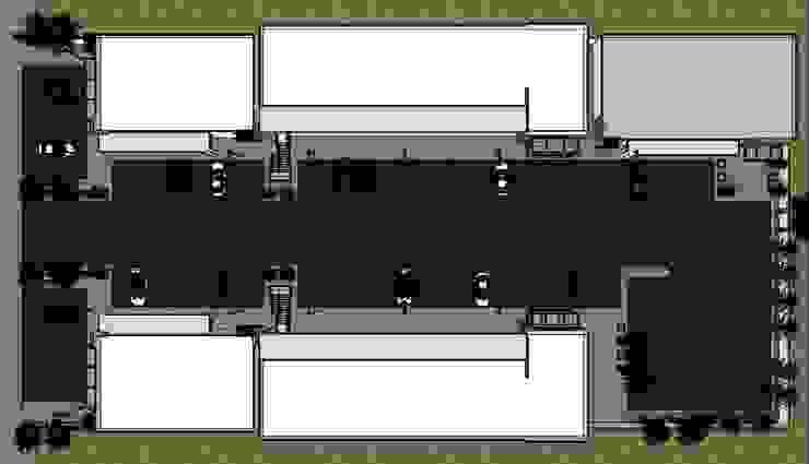 VISTA EN PLANTA Espacios comerciales de estilo minimalista de Acrópolis Arquitectura Minimalista