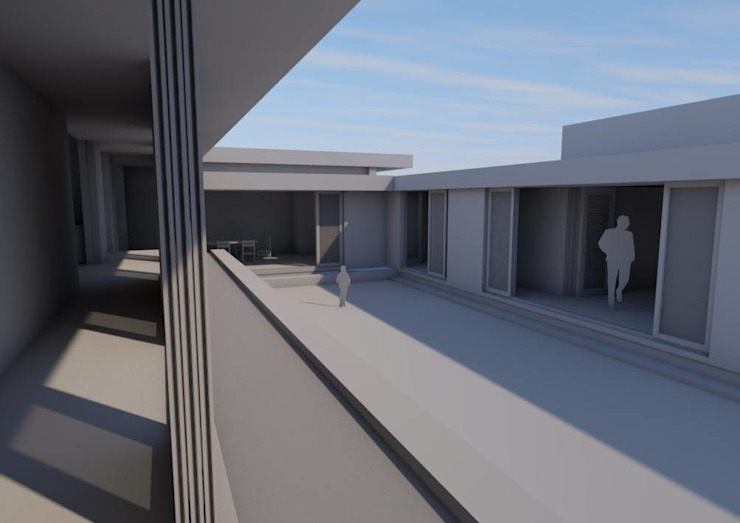 Courtyard view from main bedroom passage by Seven Stars Developments