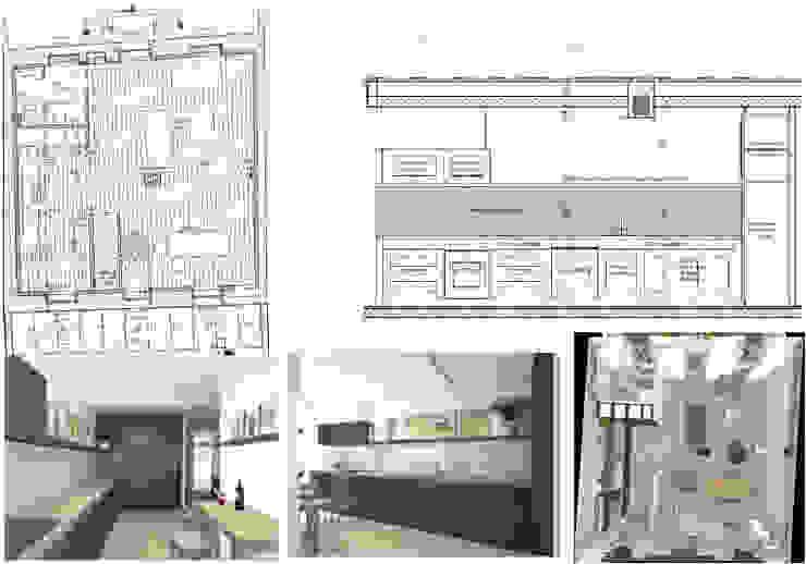 Nhà bếp phong cách hiện đại bởi Architecture d'intérieur CA Hiện đại Than củi Multicolored