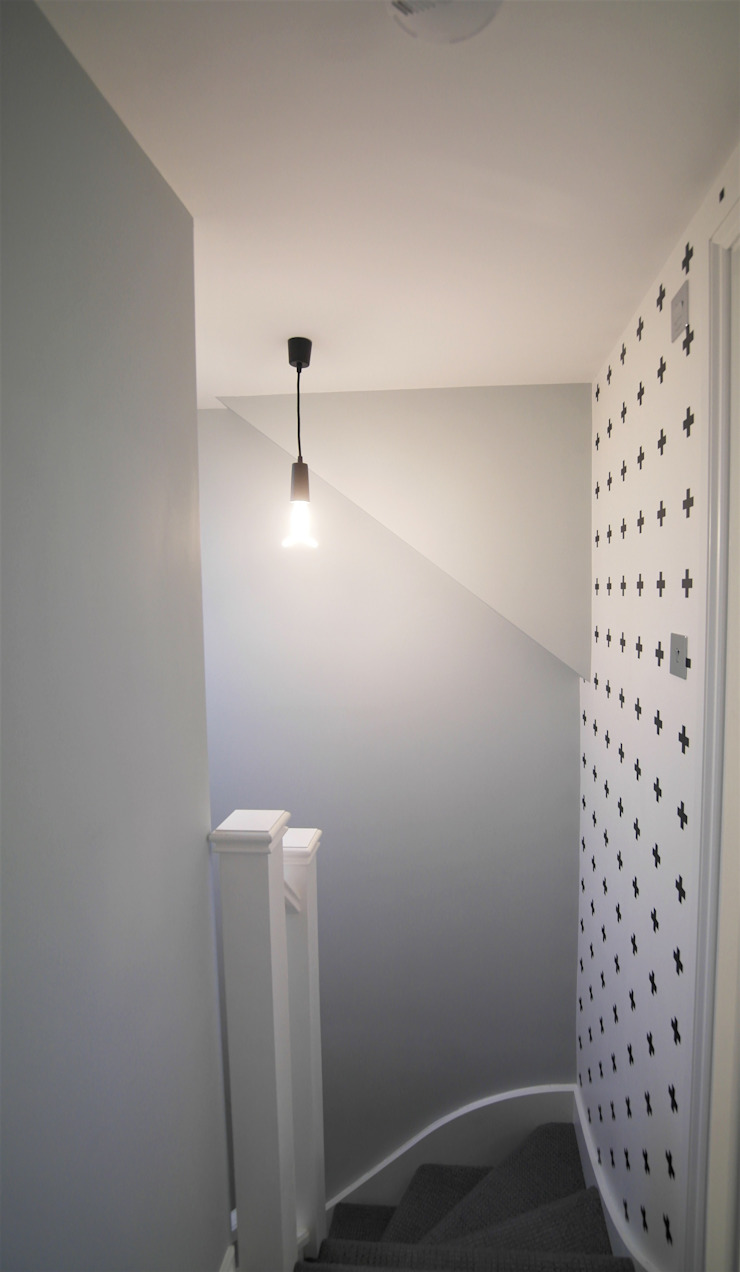 Twickenham Patience Designs Studio Ltd Modern Koridor, Hol & Merdivenler