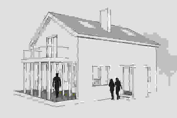 Casa cotttage en madera. vista de Estudo de Arquitectura Denís Gándara