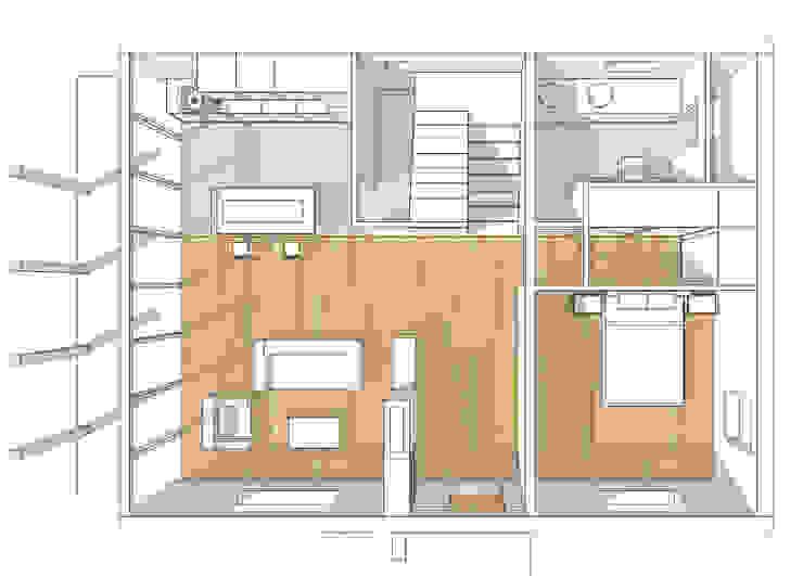 Casa cotttage en madera. distribucion III de Estudo de Arquitectura Denís Gándara