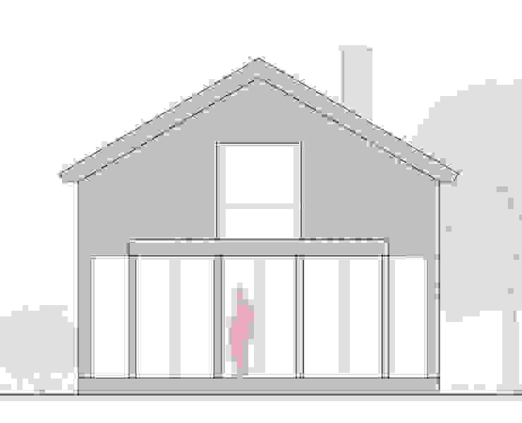 Casa cotttage en madera. Alzado de Estudo de Arquitectura Denís Gándara
