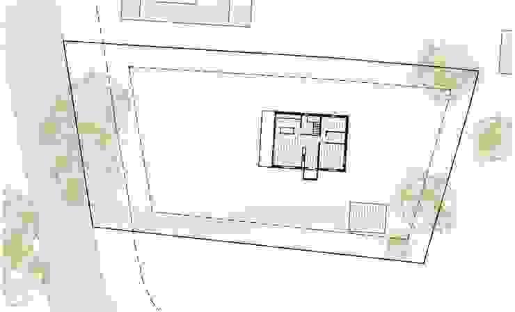 Casa cotttage en madera. Situacion. de Estudo de Arquitectura Denís Gándara