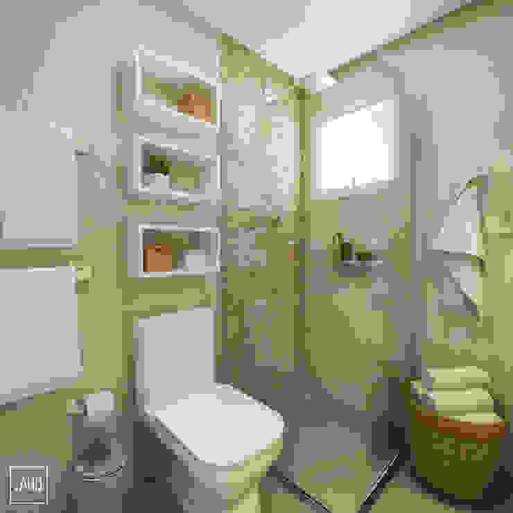 Baños modernos de PONTO ARQ. ARQUITETURA E URBANISMO Moderno Cerámico