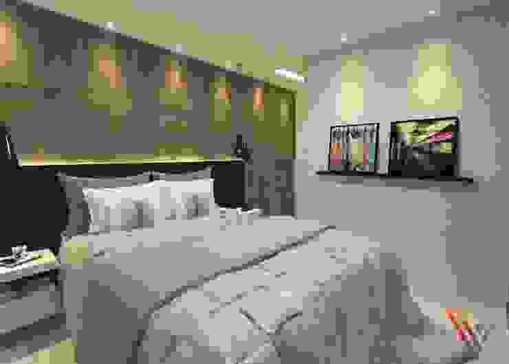 Dormitório Masculino Vitral Studio Arquitetura QuartoCamas e cabeceiras