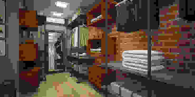 Treez Arquitetura+Engenharia Industrial style bedroom Concrete Grey