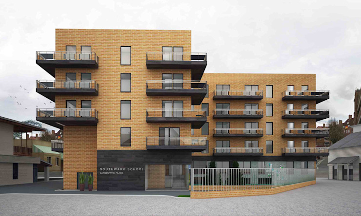 Southwark School, London Modern schools by Schaffen Amenities Private Limited Modern