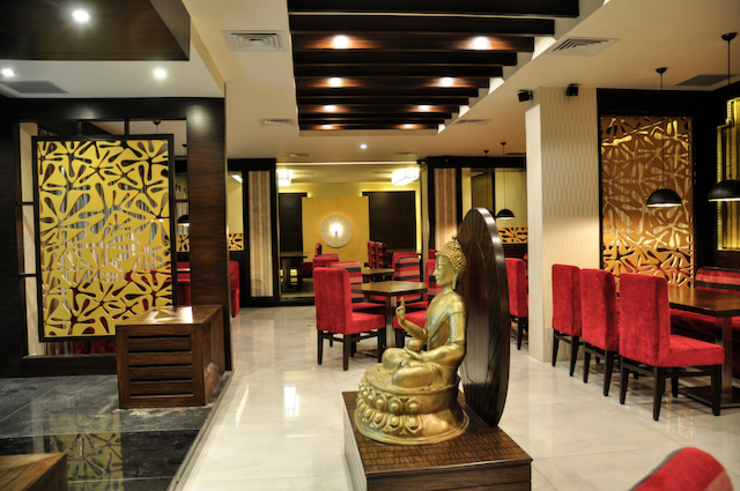 Barabati Stadium Restaurant, Cuttack (with Architekno) Modern gastronomy by Schaffen Amenities Private Limited Modern