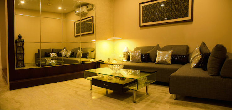 Suryanagar Residence, Bhubaneswar Modern living room by Schaffen Amenities Private Limited Modern