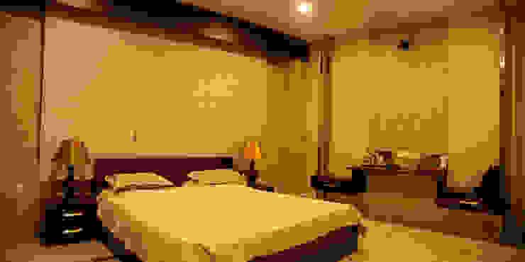 Suryanagar Residence, Bhubaneswar Modern style bedroom by Schaffen Amenities Private Limited Modern
