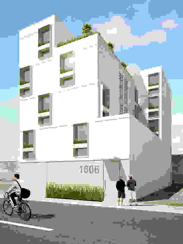 Vista exterior Casas minimalistas de HMJ Arquitectura Minimalista