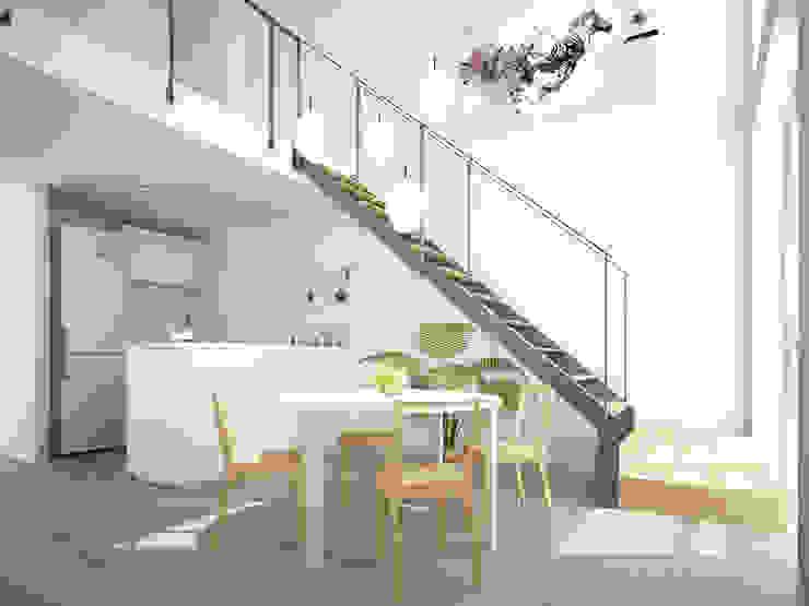 Minimalist dining room by HMJ Arquitectura Minimalist