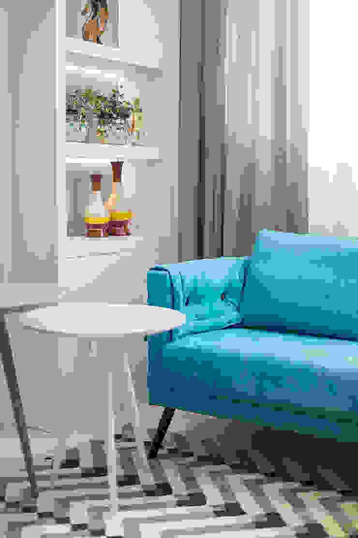 Projeto CV Juliana Agner Arquitetura e Interiores Salas de estar modernas