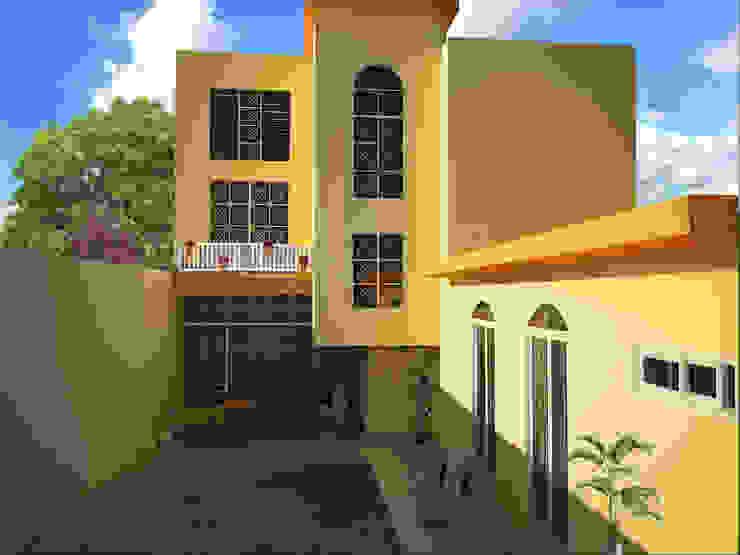 perspectiva Ecourbanismo Casas clásicas Concreto Amarillo