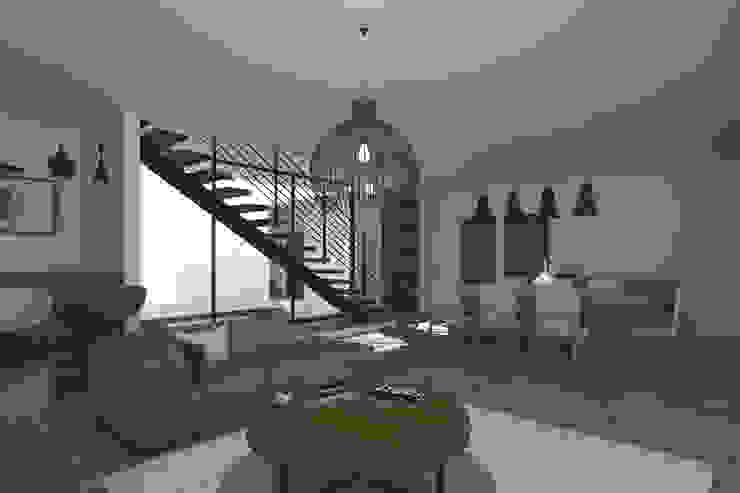 Sala - Comedor Salones modernos de Bloque Arquitectónico Moderno