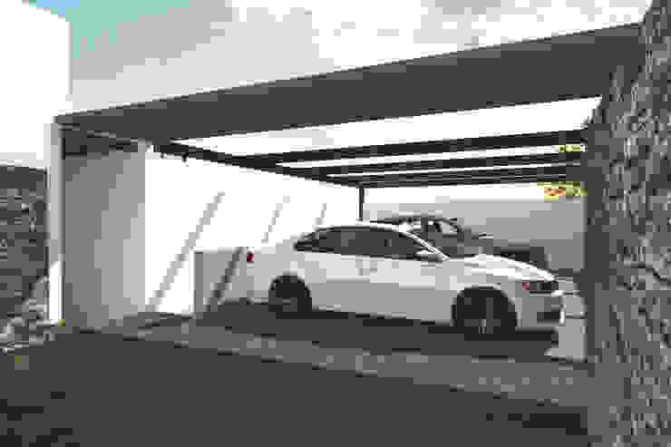 Cochera & Entrada principal Garajes modernos de Bloque Arquitectónico Moderno