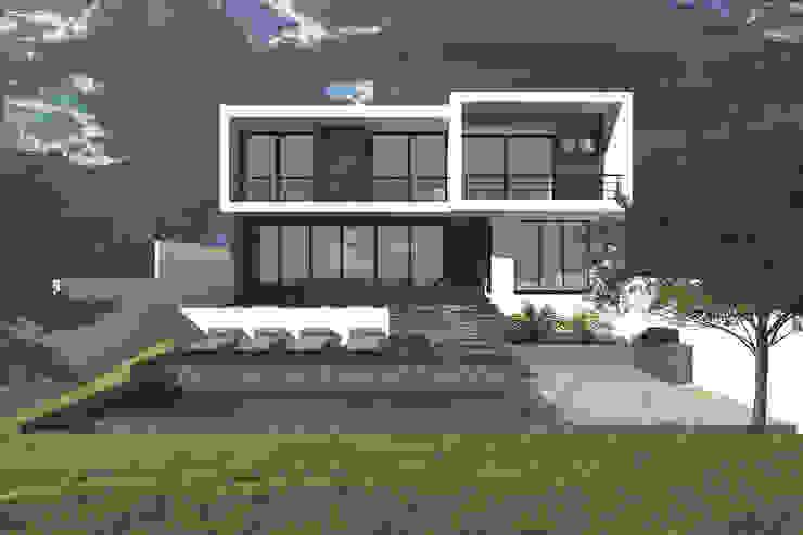 Jardín y fachada Casas modernas de Bloque Arquitectónico Moderno