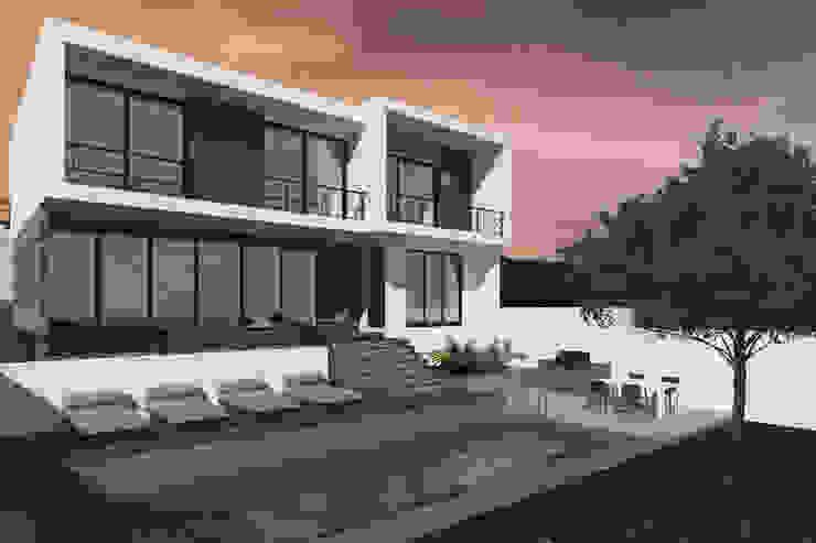 Jardín trasero Casas modernas de Bloque Arquitectónico Moderno