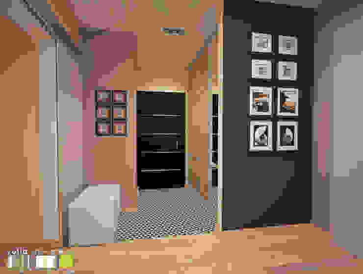 Modern Corridor, Hallway and Staircase by Мастерская интерьера Юлии Шевелевой Modern