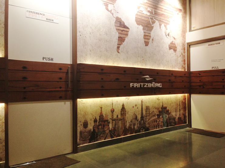 Entrance lobby by Core Design Rustic