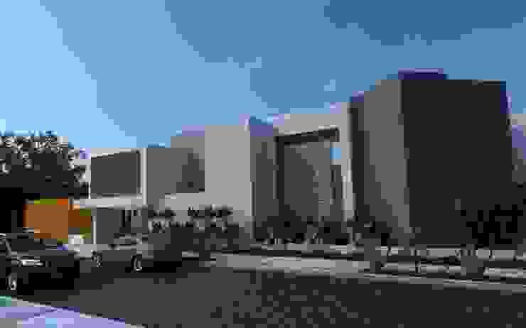 FACHADA PRINCIPAL Casas modernas de OLLIN ARQUITECTURA Moderno Concreto