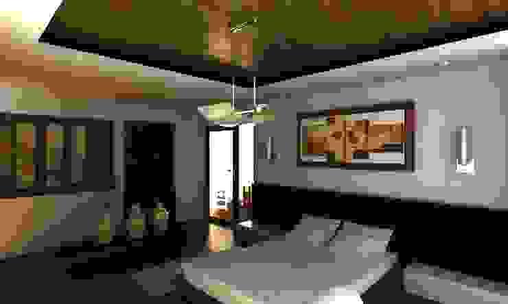 RECAMARA PRINCIPAL Dormitorios modernos de OLLIN ARQUITECTURA Moderno Madera Acabado en madera