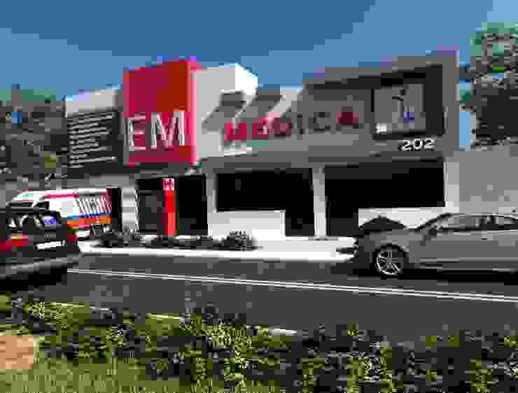 """CLINICA DE EMERGENCIAS """"EM MEDICA"""" Casas minimalistas de OLLIN ARQUITECTURA Minimalista Concreto"""