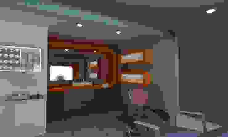 AREA DE EXPLORACION Estudios y despachos minimalistas de OLLIN ARQUITECTURA Minimalista Compuestos de madera y plástico