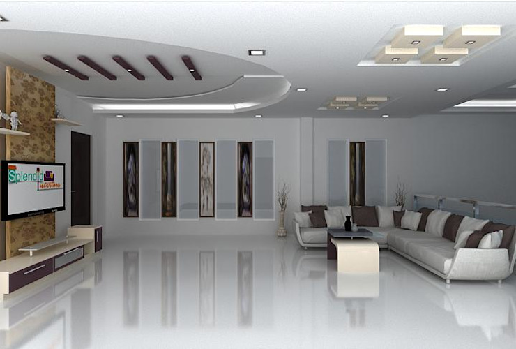 splendid interiors hall designs by Splendid Interior & Designers Pvt.Ltd