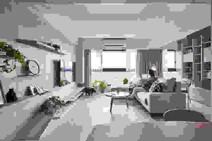 Minimalist living room by 思維空間設計 Minimalist