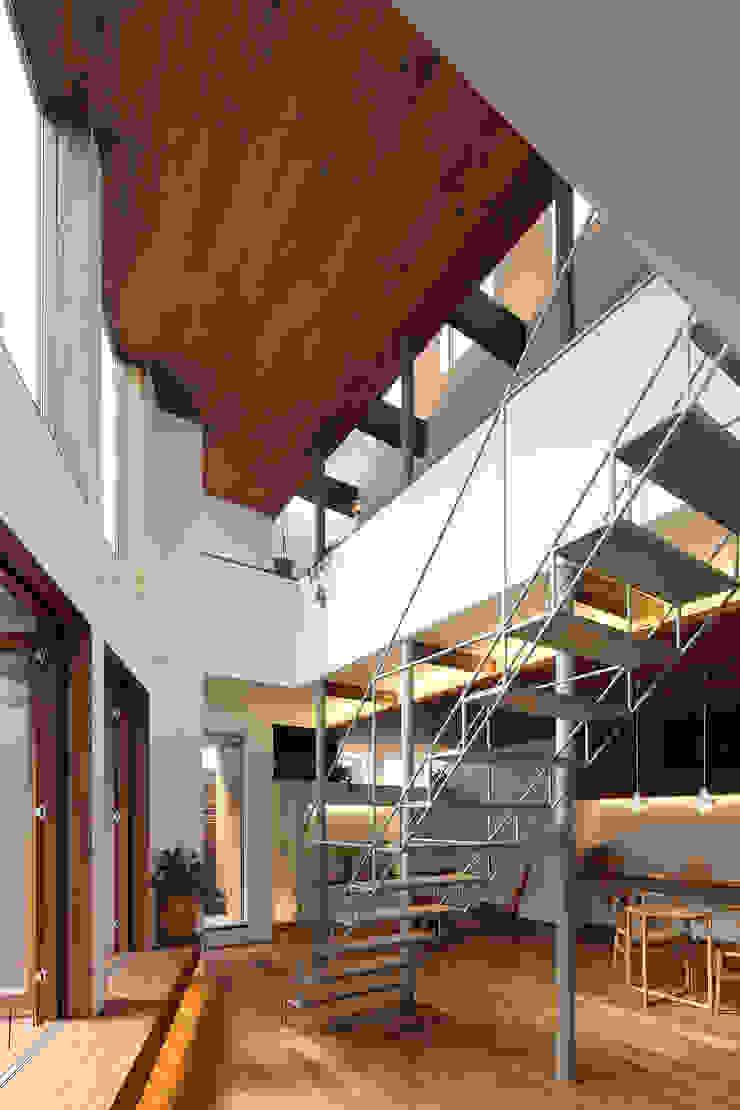 アトリエ スピノザ Salas de estilo escandinavo Madera Acabado en madera