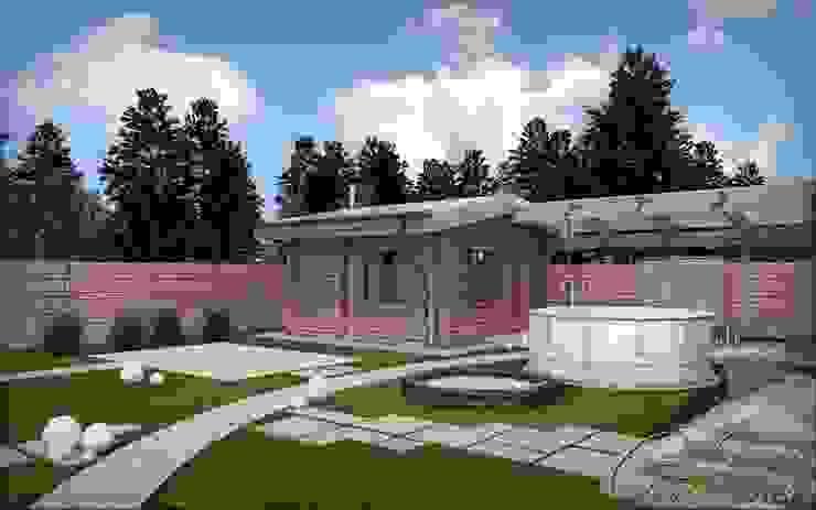 Дом с мотивами северо-западной американской архитектуры Компания архитекторов Латышевых 'Мечты сбываются' Спа в колониальном стиле