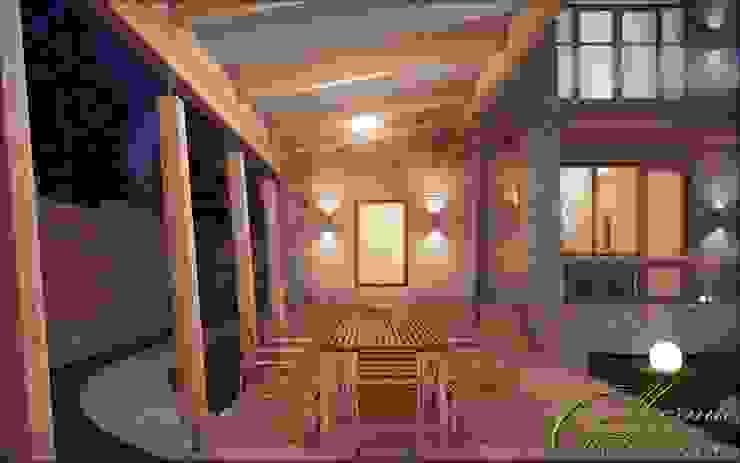 Colonial style balcony, porch & terrace by Компания архитекторов Латышевых 'Мечты сбываются' Colonial