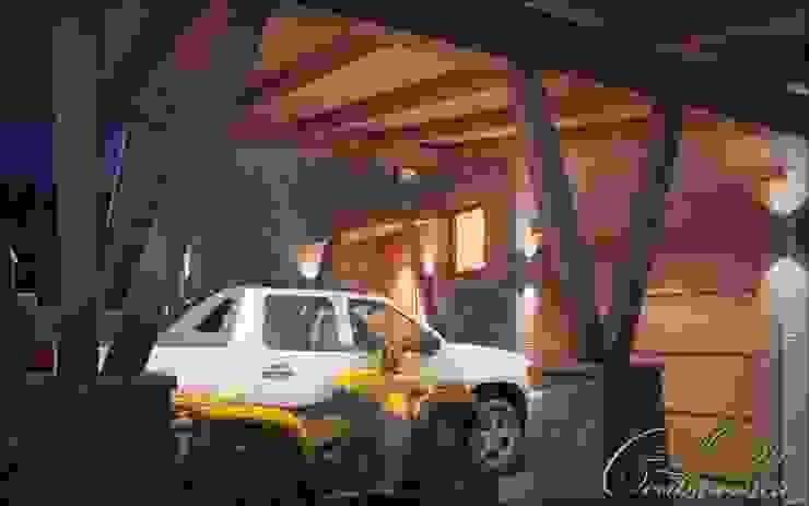 Colonial style garage/shed by Компания архитекторов Латышевых 'Мечты сбываются' Colonial