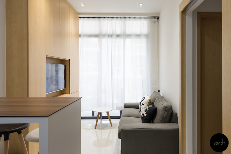 Living Area Scandinavian style living room by Y&T Pte Ltd Scandinavian