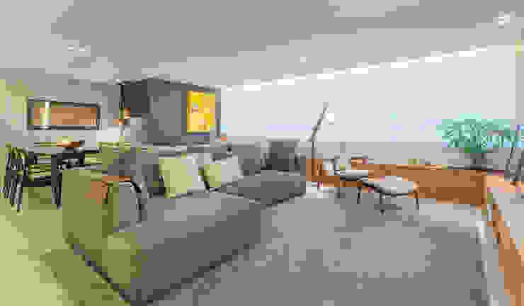 Salas / recibidores de estilo  por Botti Arquitetura e Interiores-Natália Botelho, Moderno Tablero DM
