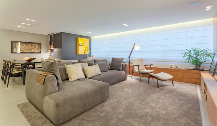 Modern living room by Botti Arquitetura e Interiores-Natália Botelho Modern MDF