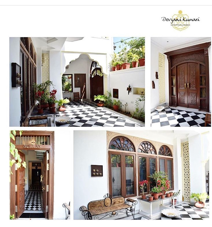 PROJECTS DELIVERED BY KOTRI Mediterranean style corridor, hallway and stairs by Devyani Kumari Lifestyle & Designs Mediterranean Concrete
