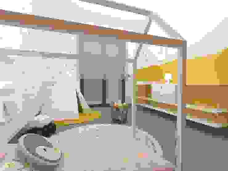 Diseño interior de dormitorio infantil Método Montessori en casa Dormitorios infantiles de estilo escandinavo de TocToc Escandinavo