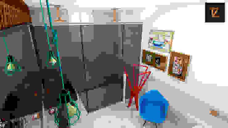 Thiago Zuza Design de interiores モダンスタイルの お風呂 金属 アンバー/ゴールド