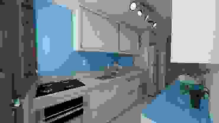 Débora Pagani Arquitetura de Interiores Modern kitchen MDF White