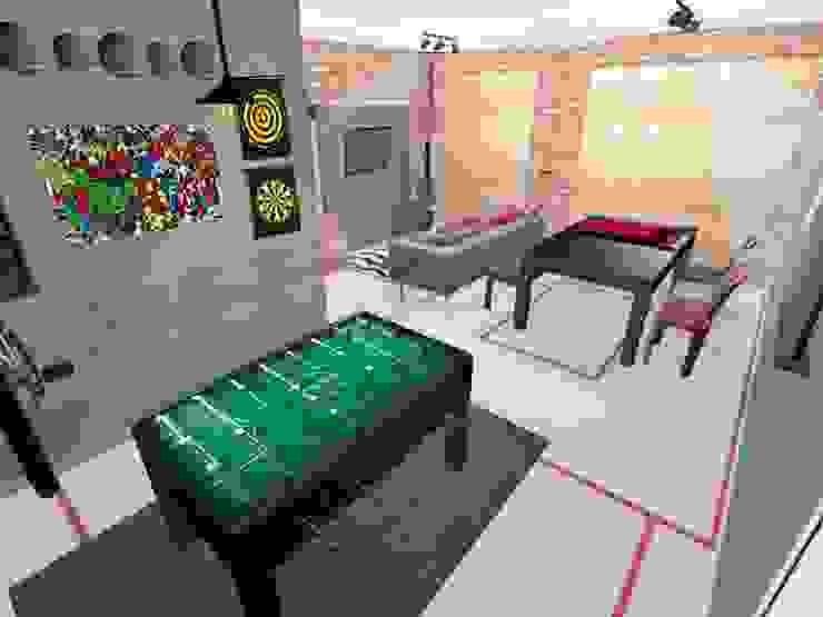 PRISCILLA BORGES ARQUITETURA E INTERIORES Living room