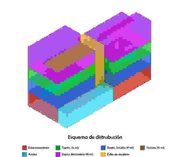 Diagrama 5 Casas minimalistas de HMJ Arquitectura Minimalista