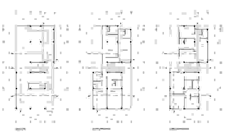 Plantas arquitectónicas Casas minimalistas de HMJ Arquitectura Minimalista