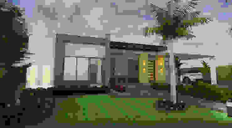 Fachada Principal: Casas de estilo  por Arquitecto Pablo Restrepo, Moderno