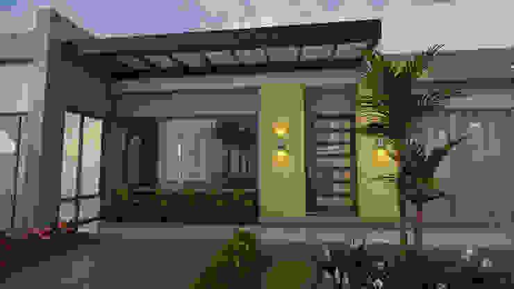 Entrada principal: Casas de estilo  por Arquitecto Pablo Restrepo, Moderno